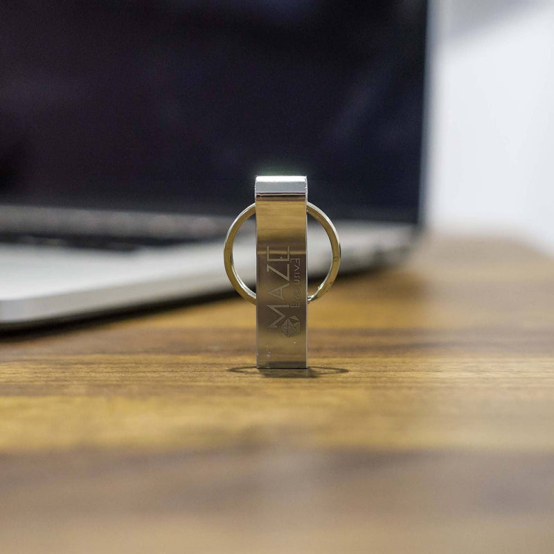 2-Piece: 64 GB Metal USB Drive with Key-Ring and USB Data Blocker Gadgets & Accessories - DailySale