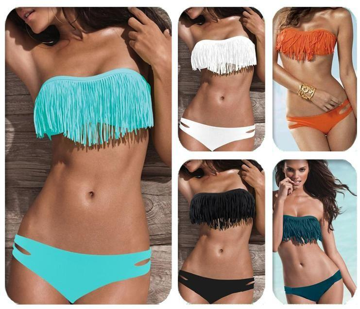 2-Piece: Fashion Fringe Bikini Swimwear Women's Apparel - DailySale