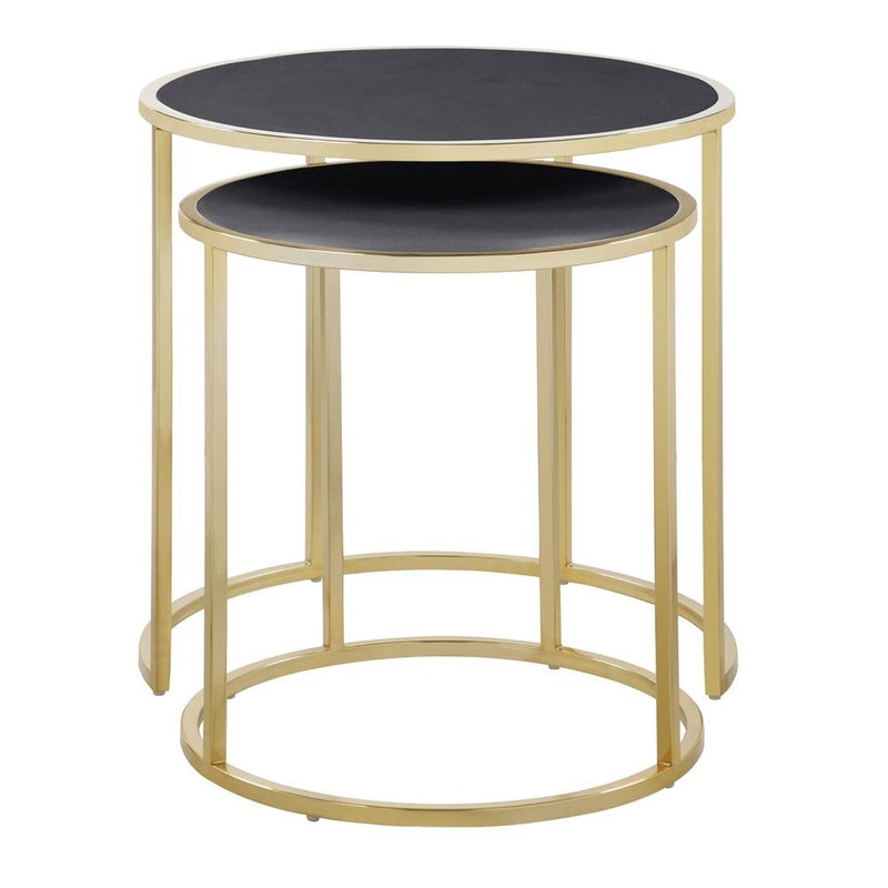 2-Piece: Iconic Home Tuscany Nesting Table Furniture & Decor Black - DailySale