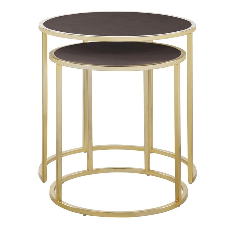 2-Piece: Iconic Home Tuscany Nesting Table Furniture & Decor Brown - DailySale