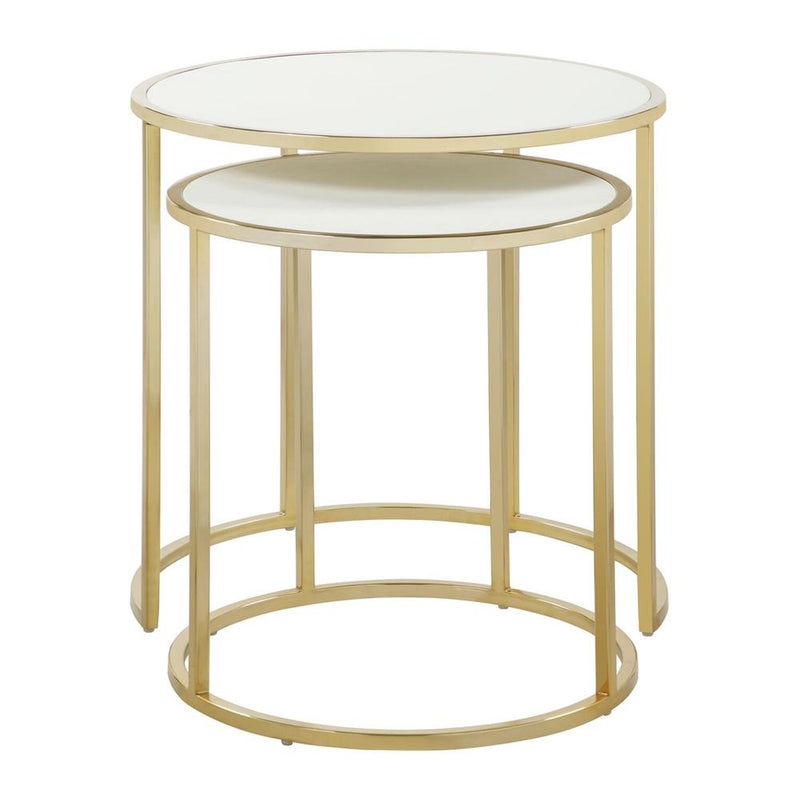2-Piece: Iconic Home Tuscany Nesting Table Furniture & Decor Cream - DailySale