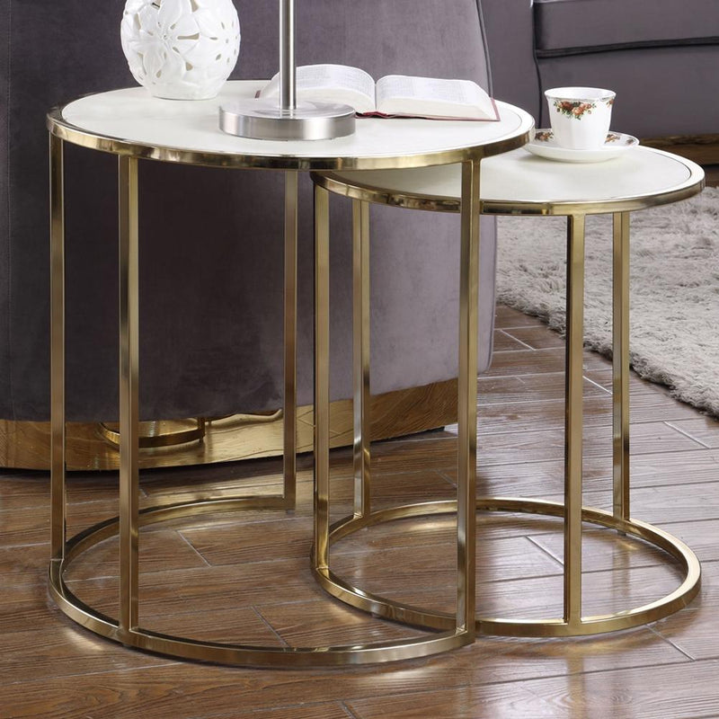 2-Piece: Iconic Home Tuscany Nesting Table Furniture & Decor - DailySale