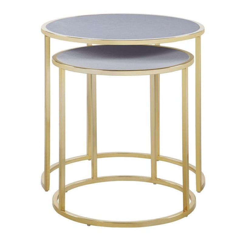 2-Piece: Iconic Home Tuscany Nesting Table Furniture & Decor Gray - DailySale