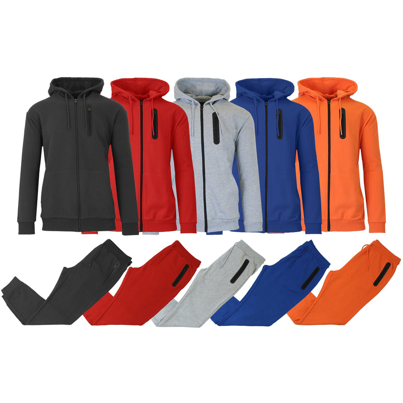2-Piece Set: Men's Slim Fitting French Terry Hoodie & Jogger Men's Clothing - DailySale