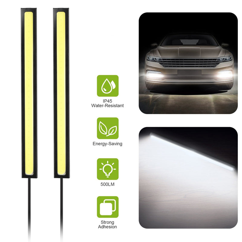 2-Pieces: Car LED Daytime Running Lights Automotive - DailySale