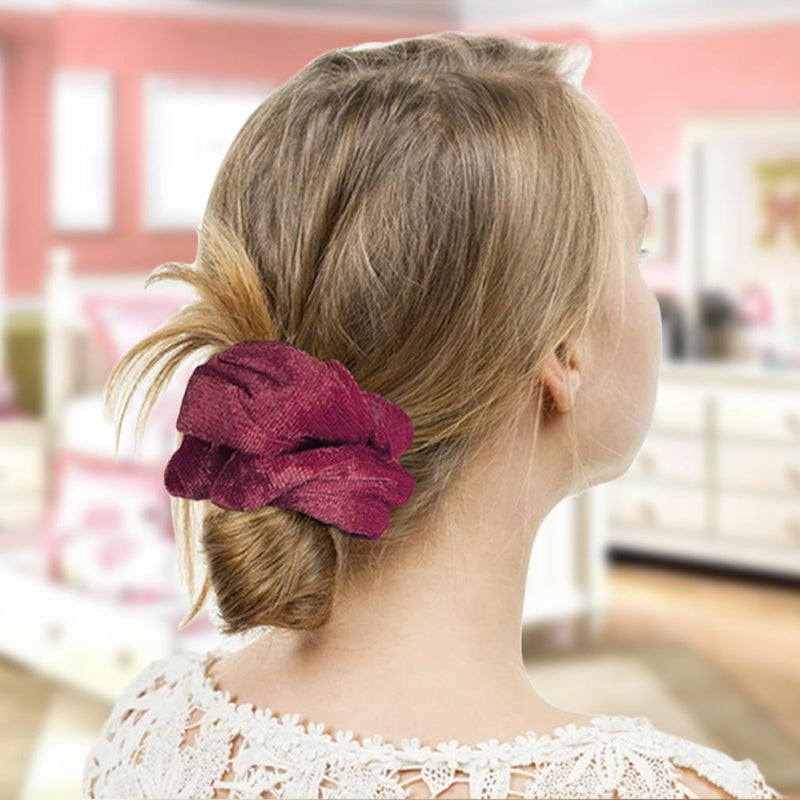 20-Pack: Premium Velvet Elastic Hair Scrunchies Women's Apparel - DailySale