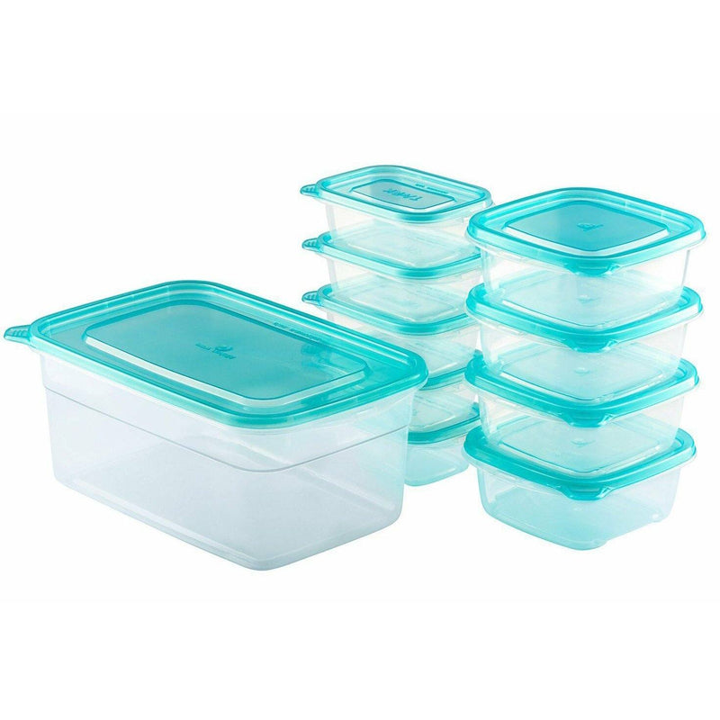 20-Piece Set: Chef's Star BPA-Free Reusable Microwavable Meal Prep Containers Kitchen Essentials - DailySale
