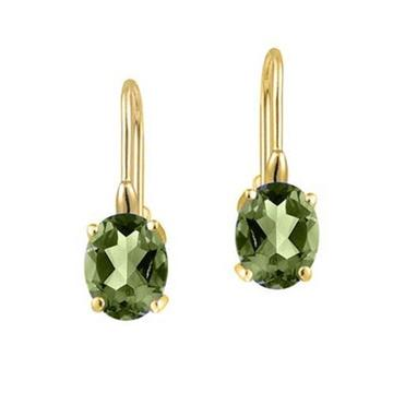 2.00 CTTW Genuine Peridot Leverback Earrings in 18k Yellow gold Earrings - DailySale