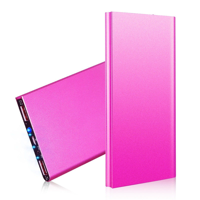 20000mAh Power Bank Ultra Thin External Battery Pack Mobile Accessories Hot Pink - DailySale