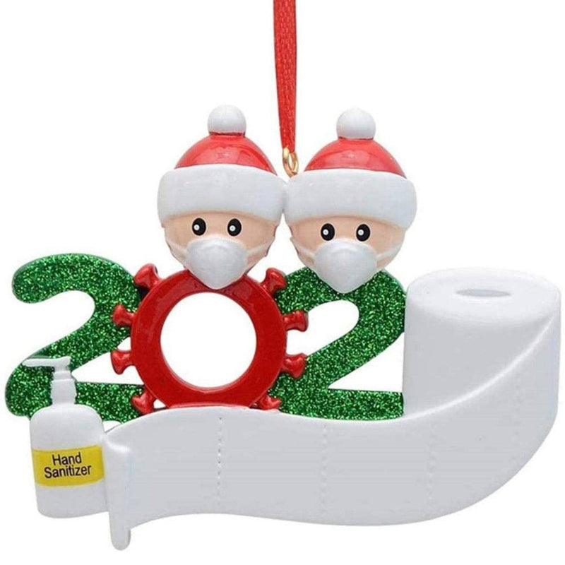 2020 Quarantine Family Personalized Christmas Ornaments Lighting & Decor Family of 2 - DailySale