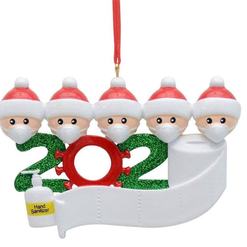 2020 Quarantine Family Personalized Christmas Ornaments Lighting & Decor Family of 5 - DailySale