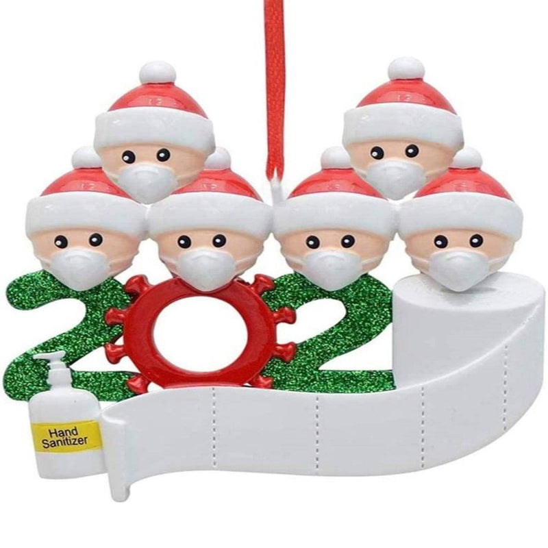 2020 Quarantine Family Personalized Christmas Ornaments Lighting & Decor Family of 6 - DailySale