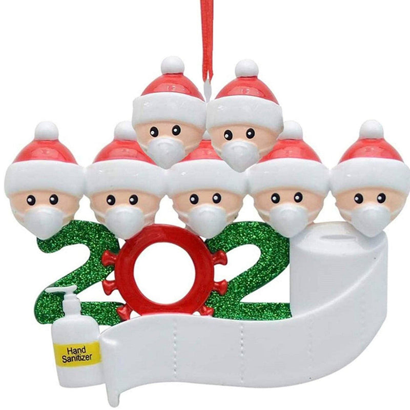 2020 Quarantine Family Personalized Christmas Ornaments Lighting & Decor Family of 7 - DailySale