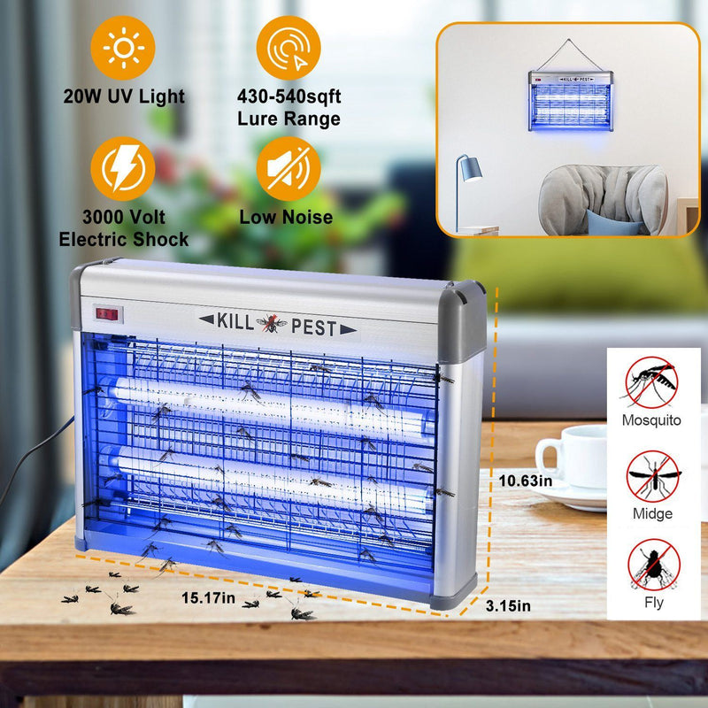 20W Electric Fly Bug Zapper Mosquito Insect Killer Pest Control - DailySale