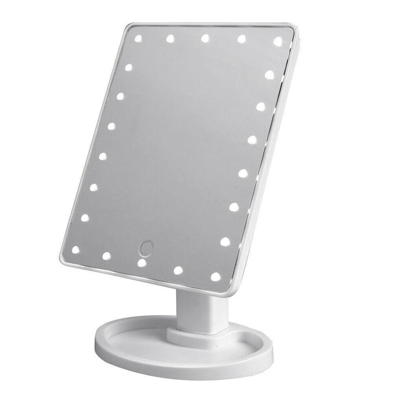 22 LED Touch Screen Desktop Stand Mirror