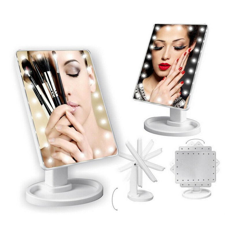 22 LED Touch Screen Desktop Stand Mirror Beauty & Personal Care - DailySale