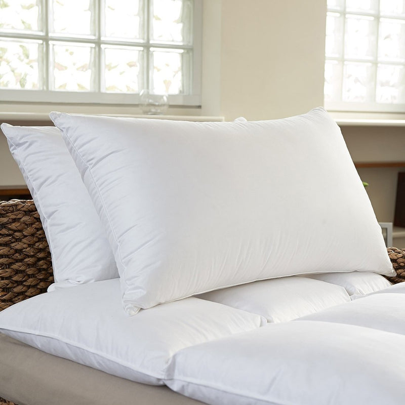 2-Pack: Beauty Sleep 100% Cotton-Covered Duck Feather Pillows - DailySale, Inc