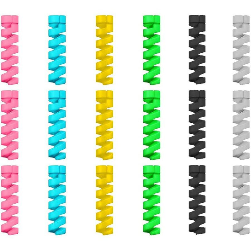 24-Pack: Flexible Silicone Cable Protector Gadgets & Accessories - DailySale