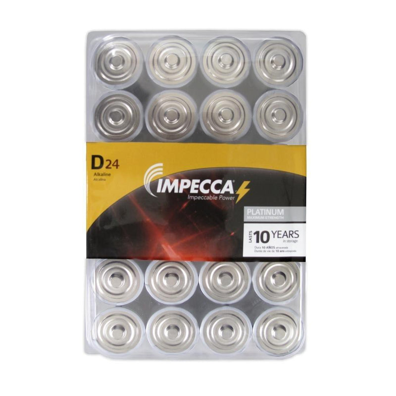 24-Pack: Impecca Alkaline D LR20 Platinum Batteries Gadgets & Accessories - DailySale