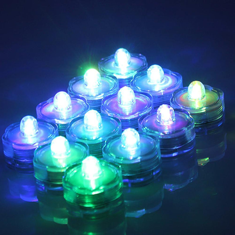 24-Piece: Submersible RGB LED Tea Light Candle Lighting & Decor - DailySale