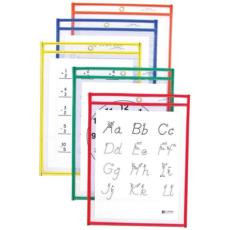 25-Pack: Reusable Dry Erase Pockets - Assorted Colors Toys & Games - DailySale