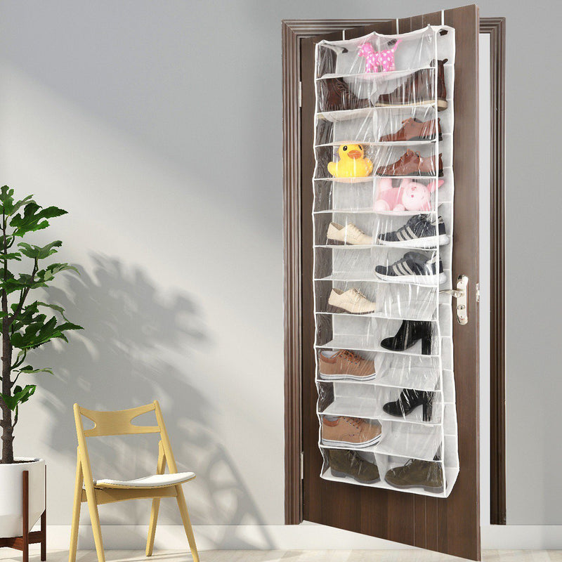 26 Pockets Over the Door Shoe Rack Closet & Storage - DailySale