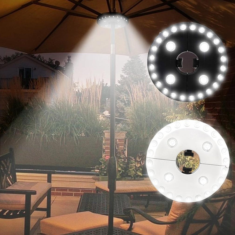 28 LED Patio Umbrella Pole Outdoor Light with Adjustable Brightness - Assorted Colors Home Lighting Black - DailySale