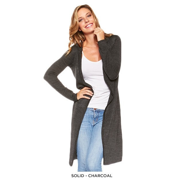 Stylish Long Hooded Cardigan - Assorted Colors - DailySale, Inc