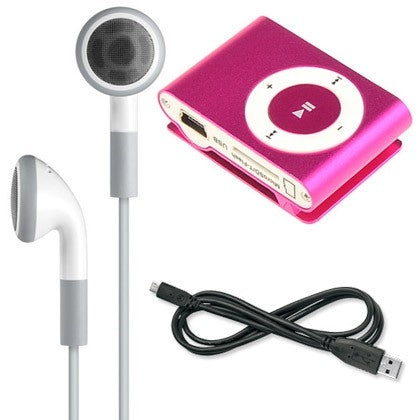 Mini Shuffling MP3 Player with USB Cable and Headphones - DailySale, Inc