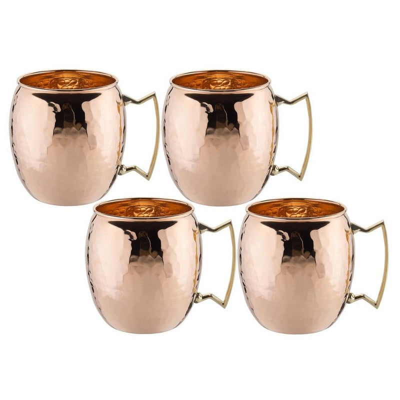 4-Pack: Hammered Copper-Finish Moscow Mule Mugs - DailySale, Inc
