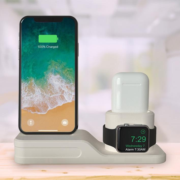 3-in-1 Charging Dock for Apple iPhone, Watch & AirPod Gadgets & Accessories - DailySale