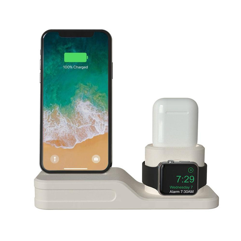 3-in-1 Charging Dock for Apple iPhone, Watch & AirPod Gadgets & Accessories White - DailySale