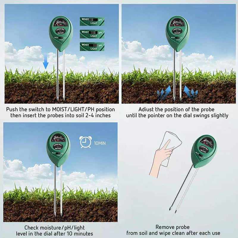 3-in-1 Soil Tester Kits for Garden Garden & Patio - DailySale