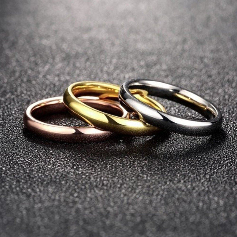 3 Pack: 18K Gold Plated Over Stainless Steel Multi-Band Stackable Ring Jewelry 6 - DailySale