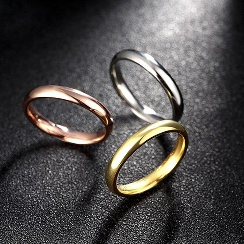 3 Pack: 18K Gold Plated Over Stainless Steel Multi-Band Stackable Ring Jewelry - DailySale