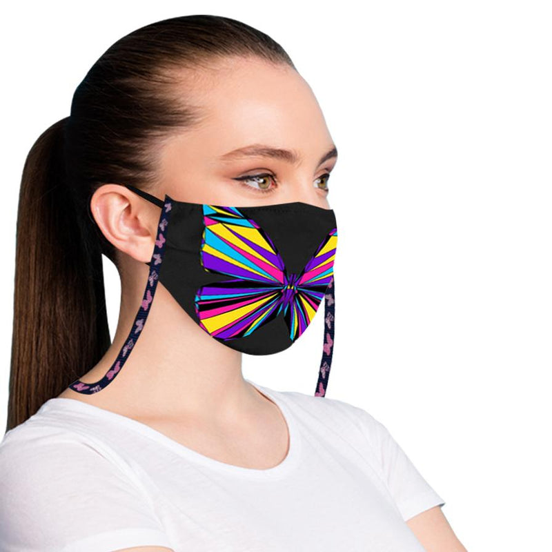 3-Pack: Anti-Lost Easy To Carry Reusable Cotton Face Mask With Lanyard Leash Face Masks & PPE - DailySale