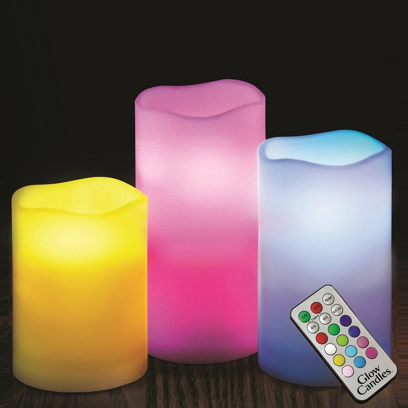 3-Pack: Color-Changing LED Flameless Candles With Remote Lighting & Decor - DailySale