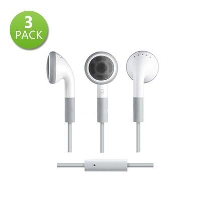 3-Pack: Earbud Headphone with Mic Phones & Accessories - DailySale