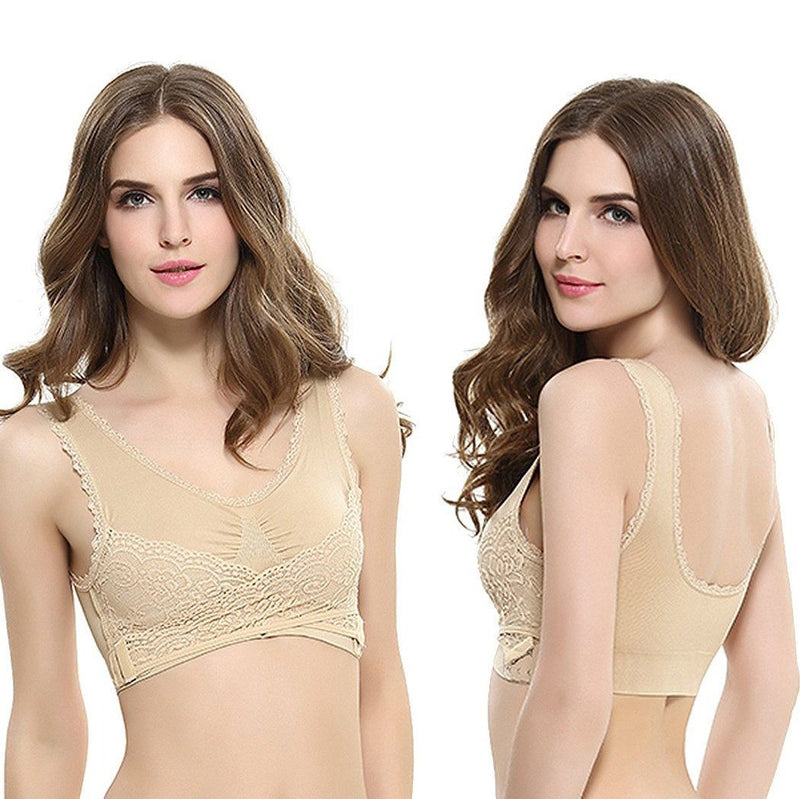 3-Pack: Floral Lace-Paneled Modesty Bras Women's Apparel - DailySale