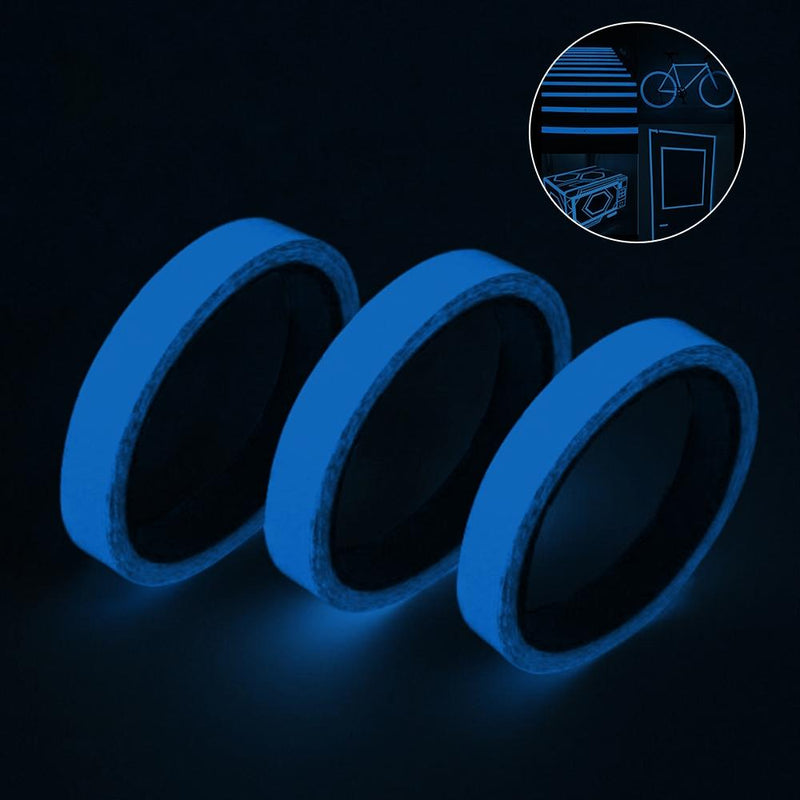 3-Pack: Glow In The Dark Tape Home Essentials Blue - DailySale