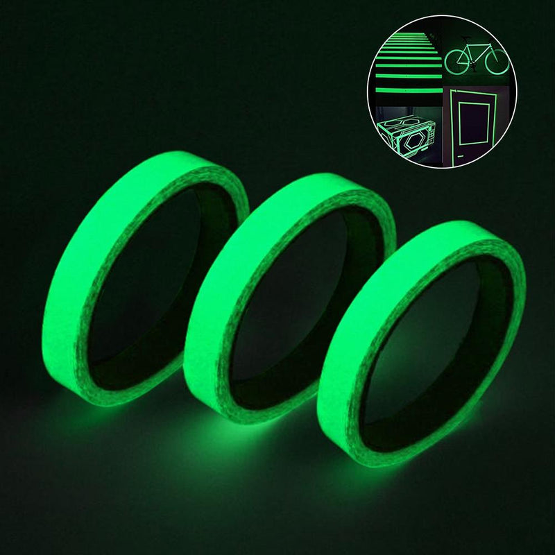 3-Pack: Glow In The Dark Tape Home Essentials Green - DailySale