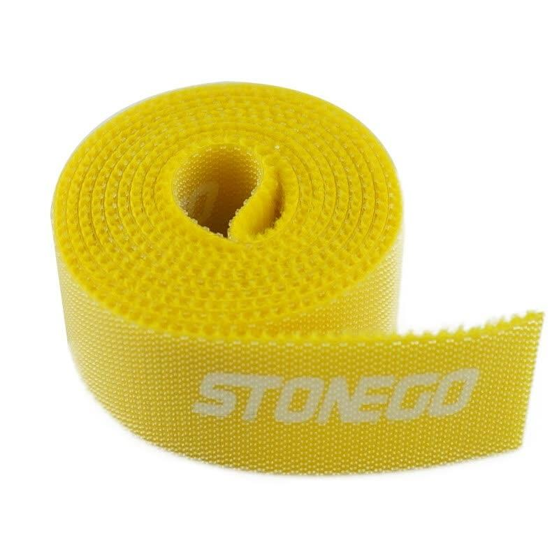 3-Pack: Hook and Loop Fastening Tape for Cable Ties Everything Else Yellow - DailySale