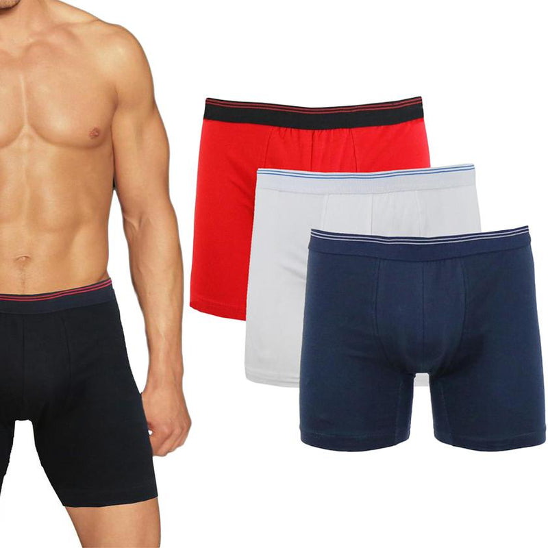 3-Pack: Men's Cotton Stretch Boxer Briefs Men's Apparel - DailySale