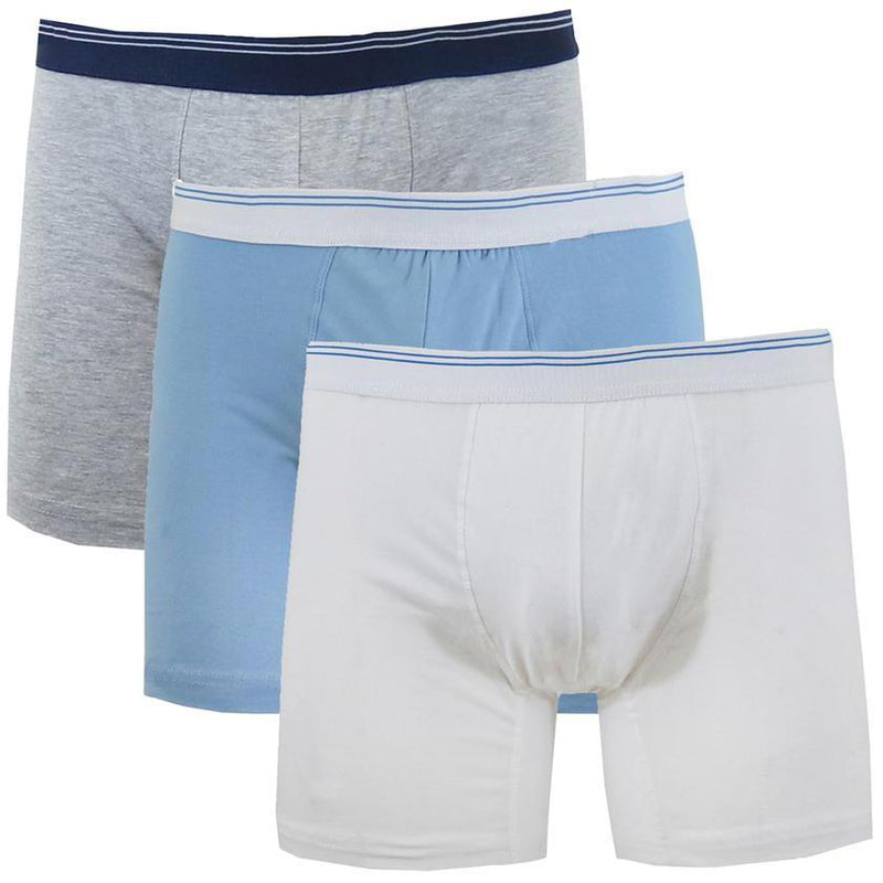 3-Pack: Men's Cotton Stretch Boxer Briefs Men's Apparel Heather Gray/Blue/White M - DailySale