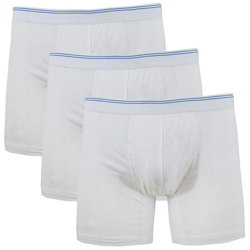 3-Pack: Men's Cotton Stretch Boxer Briefs Men's Apparel White S - DailySale