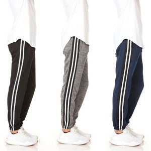 3-Pack Men's Slim-Fit Sweatpants Fleece Joggers