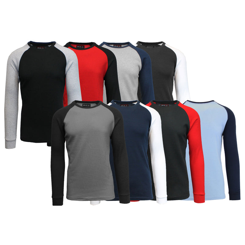 3-Pack: Raglan Sleeve Thermal Shirt Men's Clothing - DailySale