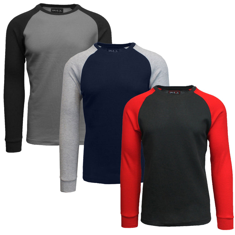 3-Pack: Raglan Sleeve Thermal Shirt Men's Clothing Set 4 S - DailySale