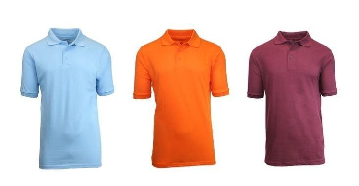 3-Pack: Short Sleeve Pique Polos in Assorted Colors - Size: XL Men's Apparel - DailySale