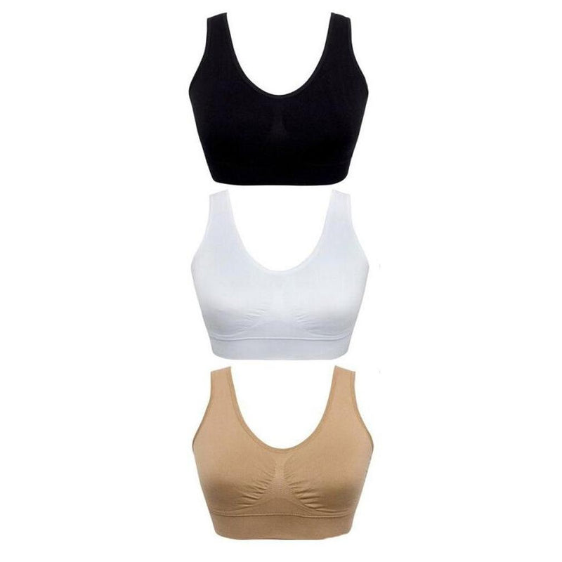 3-Pack: Total Comfort Ahh Bras Women's Apparel XXXL - DailySale